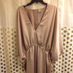 Asos Silky Kimono Sleeve Dress Mini 18 Plus Size